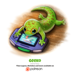 Daily 1347. Geeko by Cryptid-Creations