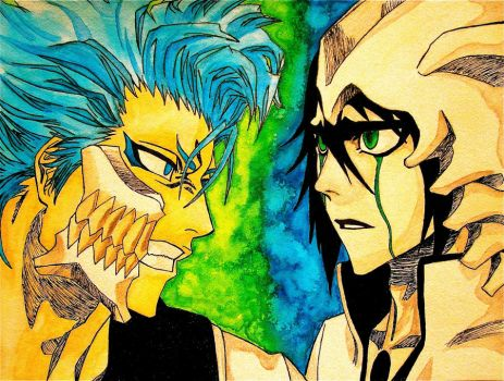 Grimmjow vs Ulquiorra by Trista-Willows