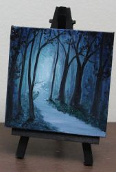 Mini Blue Forest by crazycolleeny