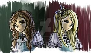 Dorothy and Alice by DarkAngeL383
