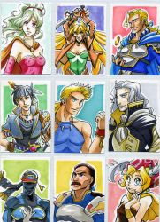 Final Fantasy 6 Sketch Cards by glance-reviver