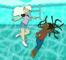 Back In The Pool color version by Akira-Devilman666