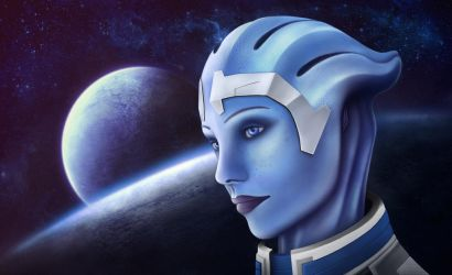 Mass Effect: Liara Portrait by ZingerNax