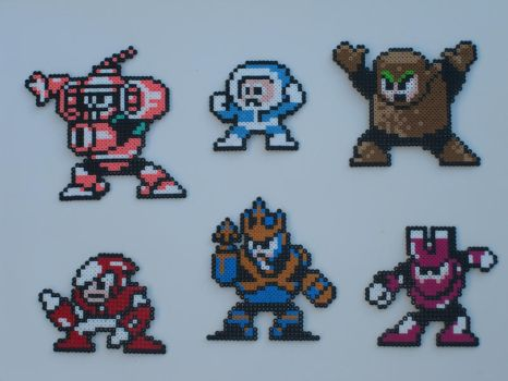 Megaman bead bosses 10 by zaghrenaut