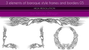 3 Elements Of Baroque Style Frames And Borders 05 by noema-13