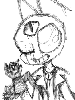 Bill Ciper and Zim fusion sketch by Carritrap