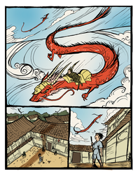Sun Dragon page 1 preview by Isaia