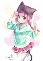 Random pink-haired girl by inma