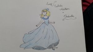 Lucinda Addison(Lucy) dressed as Cinderella  by Catlover43