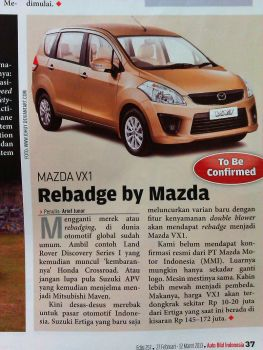 Redesign Face of Mazda VX-1 on Autobild Indonesia by idhuy
