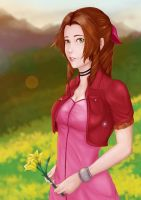 Aerith Gainsborough by Kwahirait