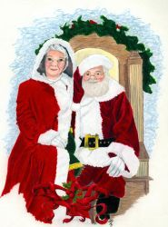 Mr. and Mrs. Santa Clause by StormmeKinkade