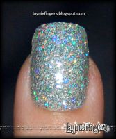 Silver Holographic Nails 1 by mslaynie