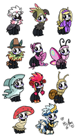 Bug outfits by Kandy-Cube
