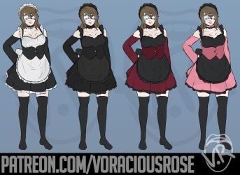 Maid Rose by VoraciousRose
