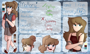 Mallory ref sheet by happyeggboy