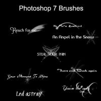 Siggy Text Brush Set by tasukiseishi