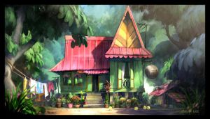 Kampung house 2 by cgooi
