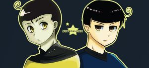 Star Trek: Data and Spock by freesh00t