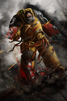 Imperial Fists Terminator by matthewmcentire
