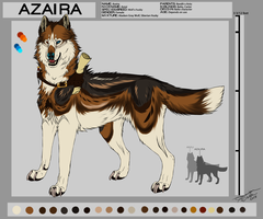 Azaira ref sheet by PricklyAlpaca