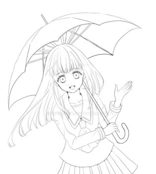 sketch)Rain Maiden by Kuyohsati