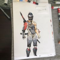 Genji Blackwatch skin by cgaiden1