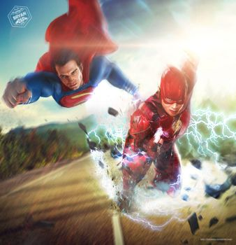 Superman Flash Race by Bryanzap
