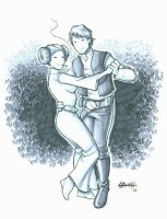 Dancin' Han and Leia by stratosmacca