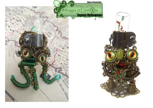 Steampunk Dr Frankenstein creatures by Rouages-et-Creations