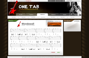 One Tab Tablature by DeKey-s