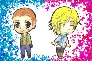 Chibi Jake And Sherry by MadeInHeavenFF15