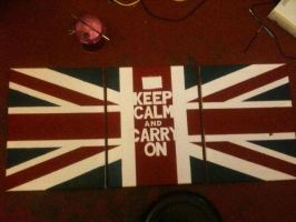 Keep Calm - Union Jack (work in progress) by PeteDomoney