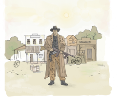 Wild West drawing (Colored) by electronicdave