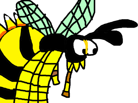King Zing the Bee from Donkey Kong 2 by MikeEddyAdmirer89
