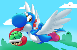 Blue Yoshi Commission by Z-Graves