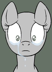 Sad Pony Base (MS paint version) by Ask-Flare22
