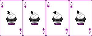 Ace Deck 46: Cupcake+White+Purple by Galadnilien