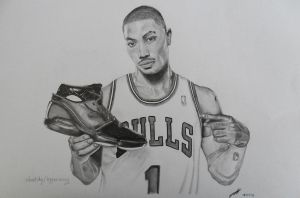 Derrick Rose Drawing by hyperion-ogul-92