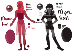 Maroon and Mystic Black Pearl (Customs) by SeraphinaJade