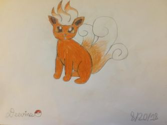 Daily Drawing/Deviation Challenge Day 20: Trifox by Deevins
