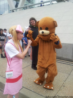 Helga vs. Pedobear by HaliaCosplay