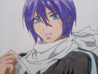 drawing  yato from noragami by RafaelAvd