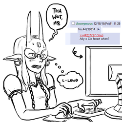 CioCio finds 4chan by CarrionTrooper