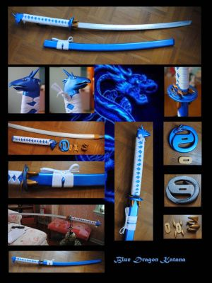 Blue Dragon Katana by fixinman