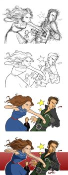 Belle vs. Hook Evolution by stratosmacca