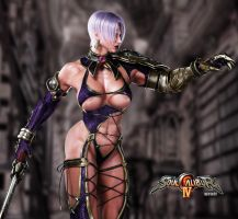SOULCALIBUR IV SIDE VIEW OF IVY by ruyueyoufei