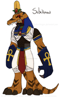 Digimon OC: Sobekmon by CinnaMonroe