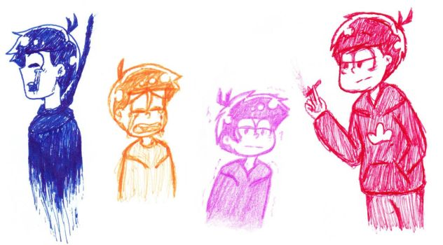 some old angsty matsu doodles by ItsDanniFandom