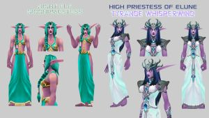 Tyrande and Moon Priestess BETA  By Vaanel by Vaanel